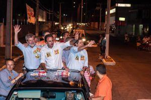 Camilo, Izolda e Mauro receberam o apoio da população de Quixadá